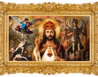 "King of kings and Lord of lords, (13""X19"") LARGE Digital Print."