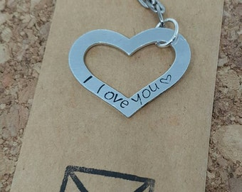 Wedding gift, gifts for husbands, gifts for wife's, boyfriend gift, girlfriend gift, love heart, love story, keychain, keyring, love gift