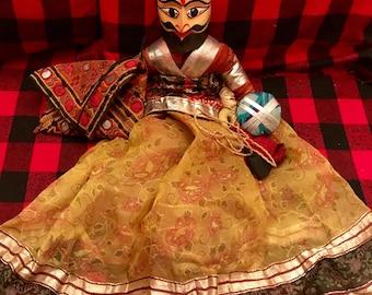 Vintage wooden Asian Marionette