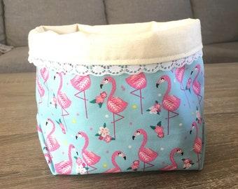 Storage Box....Flamingo Fabric