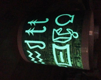 Your Name in Egyptian Hieroglyphics Personalised Glow in the Dark  Mug