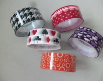 5 x 2.5 m Ribbon repositionnable15 mm various patterned paper masking tape adhesive