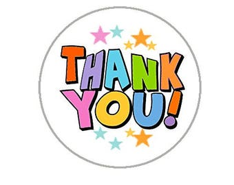 """Thank You Envelope Seals - 1.2"""" Thank You Stickers - 144 Stickers - 25117"""