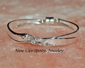 "Spoon Bracelet Small ""Gaiety"" Silverware Jewelry Vintage Jewelry Handmade Wedding Gift Antique Jewelry Handmade-3"