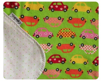 Slugbug flannel baby blanket, receiving blanket, swaddler, flannel baby blanket, volkswagen bug, car blanket, security blanket