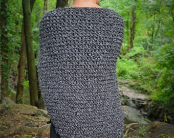Outlander Knit Shawl / Claire's Gray Wrap