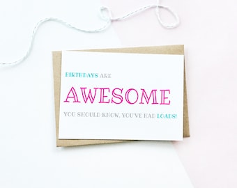 Lots Of Birthdays Card, Funny Birthday Card, Age Card, Old Age Card, Funny Card, Card For Friend, Card For Her, Humour Card, Card For Him