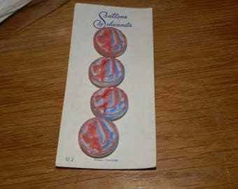 Vintage Schwanda Red WHite and Blue Buttons