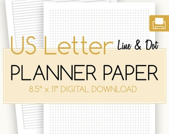 US Letter, Dot Grid Paper,US Letter Dotted Paper,US Letter Dots Paper, Dot Grid,Bullet Journal Dot Paper,Bullet Journal Dot Paper, - Digital