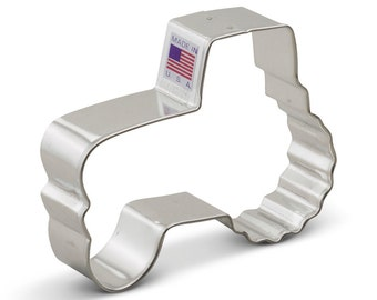 """Tractor Cookie Cutter  w/cab 4.25"""" farm cookie cutter, Made in the USA"""