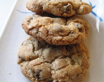 New year gift cookies --homemade cookies--Homemade Ultimate Chocolate Chip Cookies----Homemade holiday gifts---one dozen
