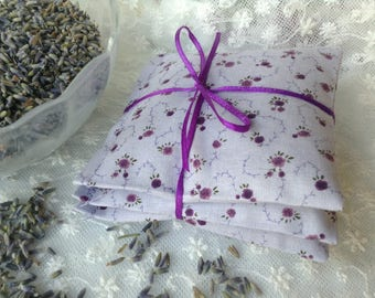 Lavender Clothes Dryer Sachets - Organic French Lavender, Set of 3 Sachets, Dryer Sachets, Eco Friendly Green Living Dryer Sheet Alternative