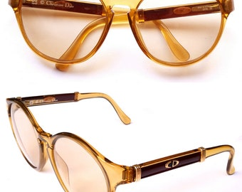 Vintage Christian Dior 2210 Vegas Gold Women Sunglasses Optyl Frames Made In Germany 80s