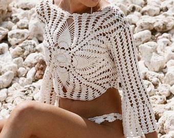 Crochet Top,Women Top.
