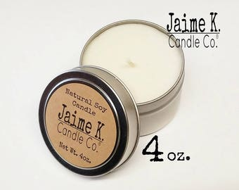 Set of 2 Floral Scented Candle Tins 100% Soy Wax You Dye Free