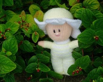 PDF Knitting Pattern - Flower Baby