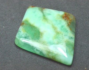 49mm Chrysoprase green diamond kite shape cabochon from Australia 49 by 40 by 6mm 72.80ct