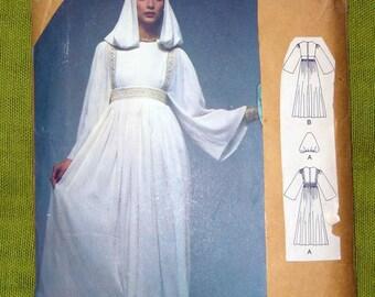 1960s Vintage Vogue Paris Original - Vogue 1553 - Christian DIOR Evening DRESS with Hood