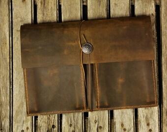 Handmade leather new macbook 12 / macbook air 11 13  bag case sleeve /  leather laptop case bag - MACX05TP