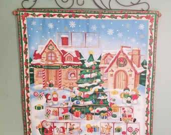 Snow Much Fun  Advent Calendar/Countdown to Christmas Wall Hanging