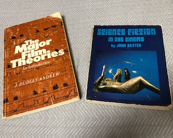 Vintage Film/Movie Books - Science Fiction and Theory - 1970s
