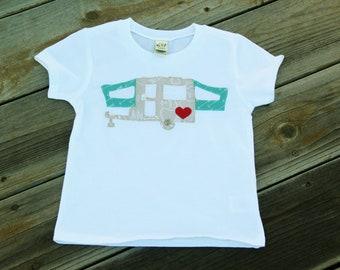Pop Up Camper Toddler Shirt, 24 Month Shirt, Ready to Ship, PUP Shirt