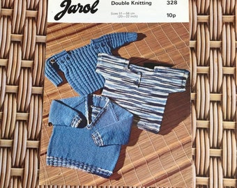 Vintage Knitting Pattern - Childrens Jumpers