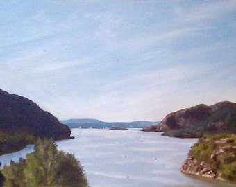 Giclee Archival Print - View of the Hudson River from Trophy Point at West Point by David Lawter