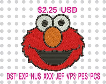 Sale 10% (was 2.50 USD) Elmo Machine Embroidery Design 4 Sizes-INSTANT DOWNLOAD