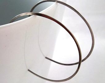 Medium Hypoallergenic Niobium Hoop Earrings