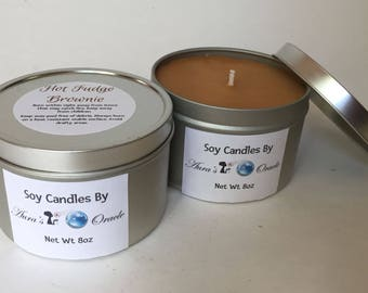 Hot Fudge Brownie 8oz Soy Wax Candle