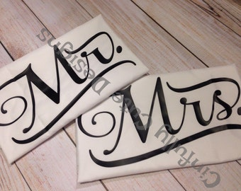Mr and Mrs Pillowcases - Set of Two