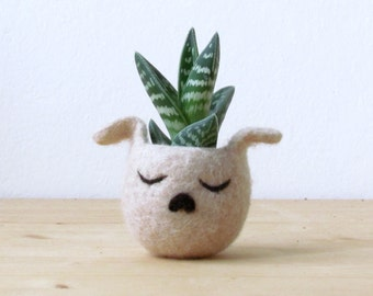 Dog planter | cactus vase, Dog mama gift, Succulent planter, puppy pot, Cute dog lover gift, gift for her