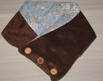 Brown, warm, soft and feminine snood