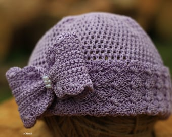 Crochet  Pattern - crochet hat pattern (Sizes: 0-3 months, 3-6 months, toddler, child, adult)  bow hat pattern, hat pattern, pdf pattern hat