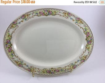 Sale Vintage Edwin M Knowles Serving Platter Made in USA