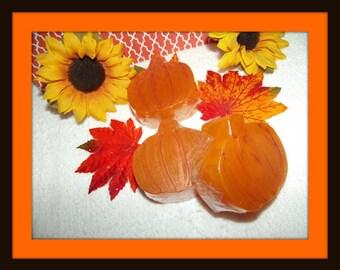 Pumpkin Glycerin Soap Set, Fall Soap Set, Harvest Soaps, Pumpkin Soaps, Pumpkin Decor, Fall Soap Set, Autumn Favors, Thanksgiving Favors