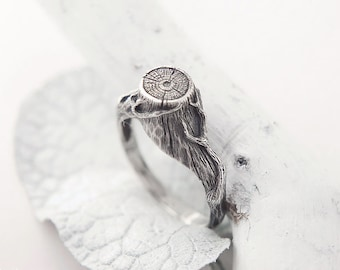 Twig Ring, Nature Inspired Ring, Woodland, Forest Wedding Ring, Tree Branch Ring, Tree Stump Ring, Witch Jewelry
