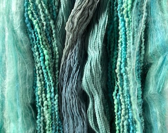Mountain color yarns - warm and wooly throw ice