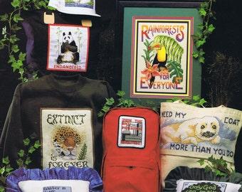 Ecology Counts Cross Stitch Chart - Cross My Heart Inc - 13 Designs