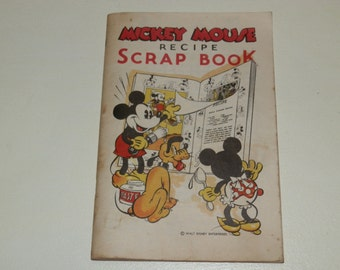 Mickey Mouse Recipe Scrap Book-1930s
