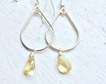 Citrine Earrings, Scorpio, Gifts for her, Scorpio Birthday, November Birthstone, Citrine Gemstones, Great Gift!