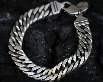 Sterling Silver Double Chain Link Bracelet