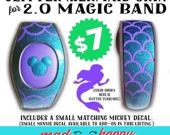 2.0 Magic Band GLITTER Mermaid Scales Vinyl Decal