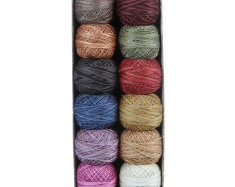 Valdani Thread Collection - Fuits and Vegetables by Cardiff Farm - 12 balls of varigated Pearl Cotton size 12 thread