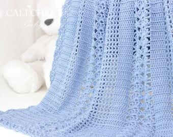 Crochet Baby Blanket PATTERN 146 - Elise - Crochet PATTERN 146 - Baby Afghan Pattern - Instant Download