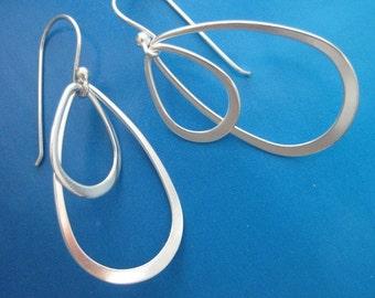 petals - sterling silver earrings