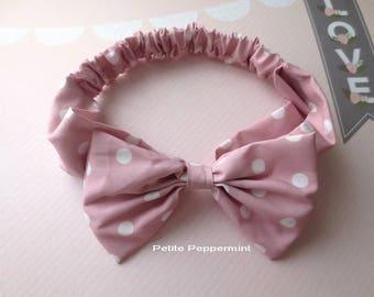 Pink Baby headband, baby girl headband, baby head wrap, toddler headband,Big Bow Headband, Toddler Hair Bow, infant headband, baby hair bow