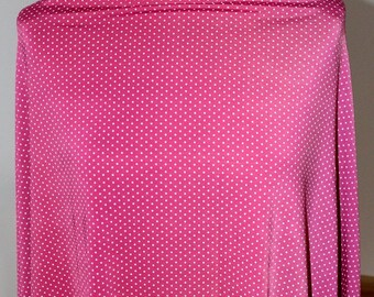 Coupon Jersey pink polka dots in 109x148cm