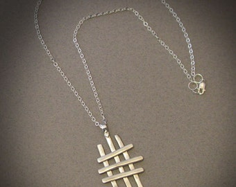 Tic-Tac-Toe - Sterling Silver necklace